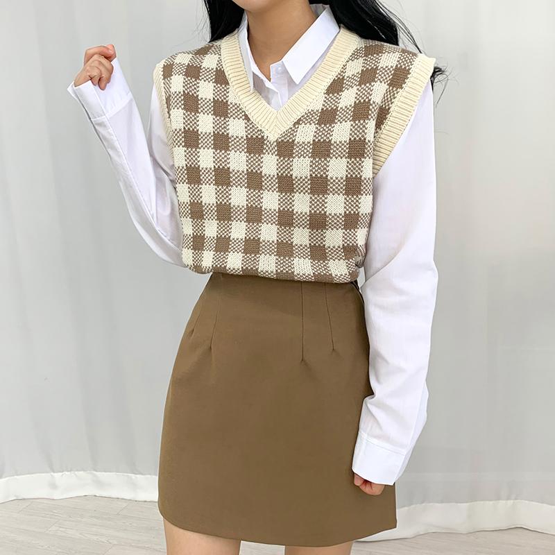 迷你裙 模特形象-S1L22