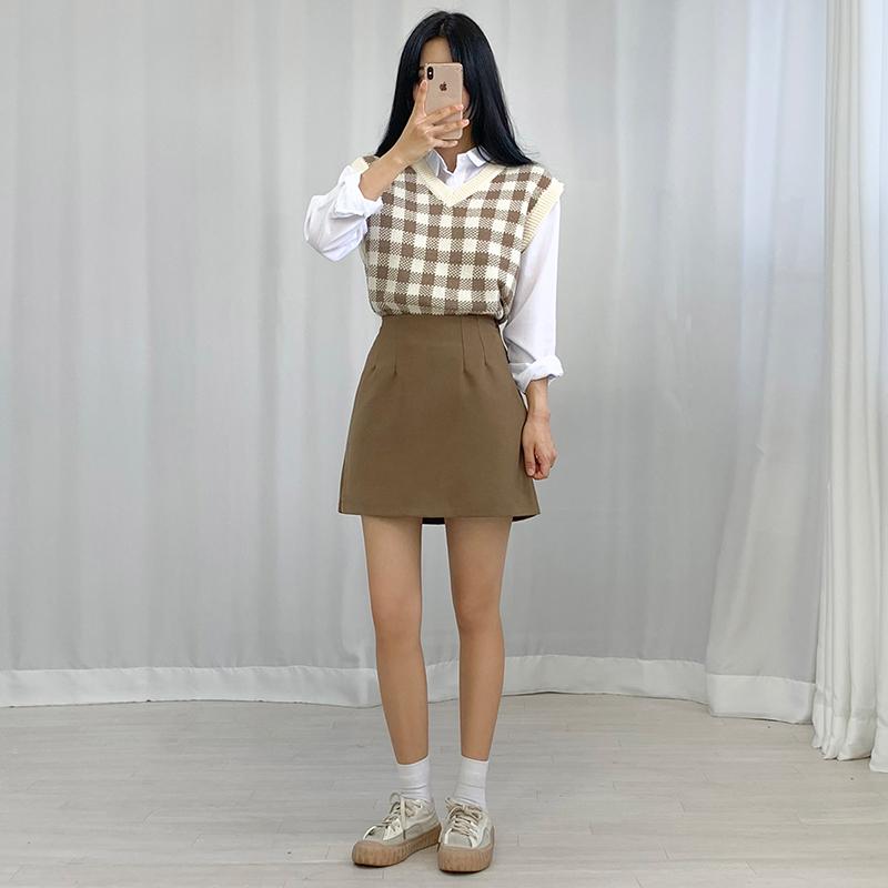 迷你裙 模特形象-S1L21