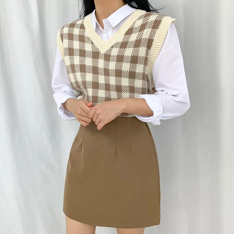 迷你裙 模特形象-S1L16