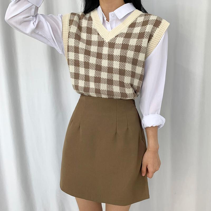 迷你裙 模特形象-S1L18