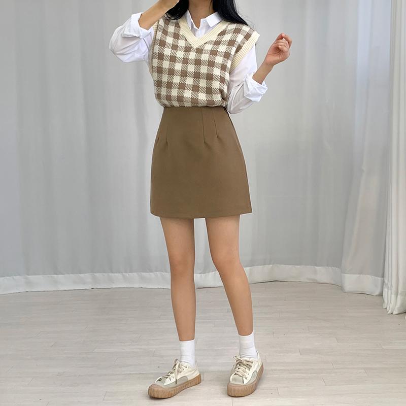 迷你裙 模特形象-S1L20