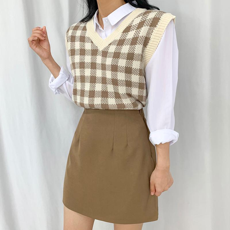 迷你裙 模特形象-S1L26